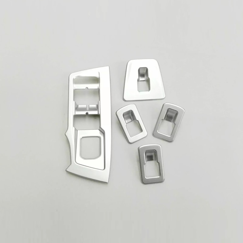 For Seat Tarraco 2018 2019 2020 ABS Chrome Car Door Window glass Lift Control Switch Panel Cover Trim Accessories Styling 5pcs