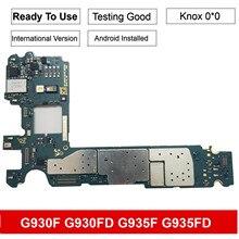 Para Samsung Galaxy S7 edge G935FD G935F placa base con Chips IMEI OS placa lógica de buen funcionamiento 128GB 32GB Original
