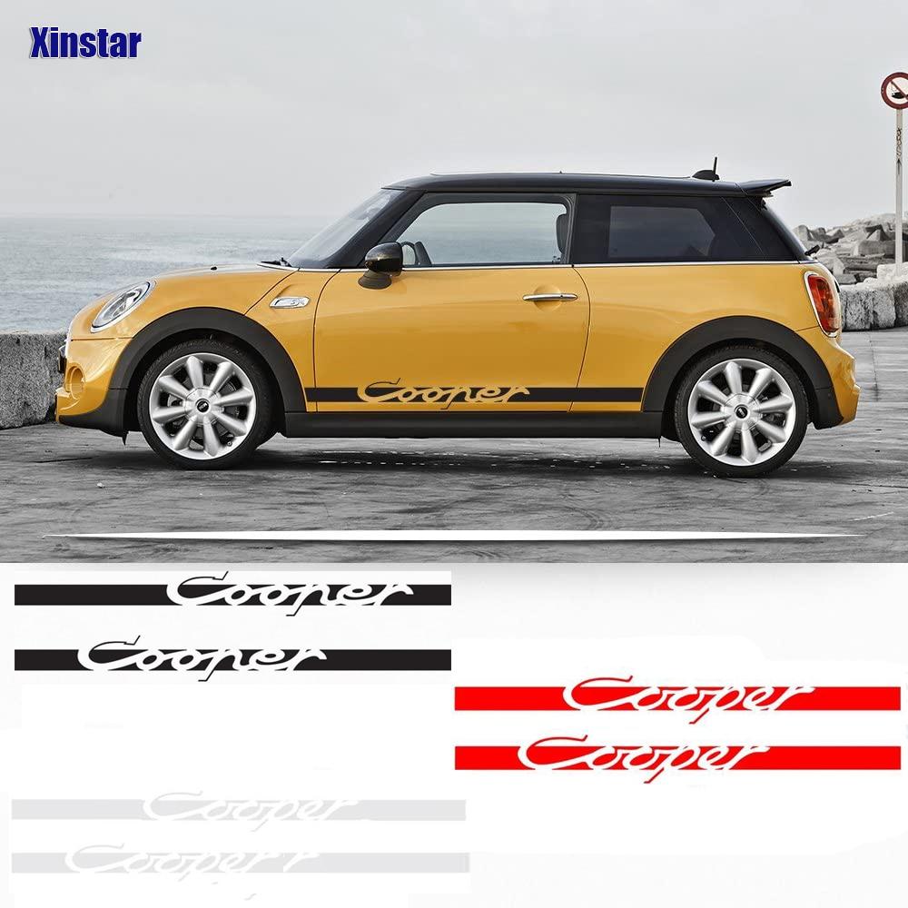 2 stücke Auto Styling Seite Streifen Aufkleber Vinyl Für Mini Cooper R56 R57 R58 R50 R52 R53 R59 R61 R60 f60 F55 F56 F54