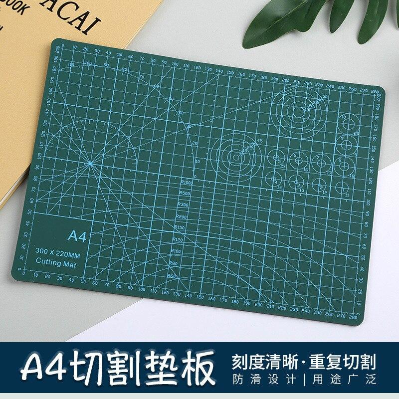 A4 PVC Cutting Mat Pad Patchwork Cut Pad DIY Tool Cutting Board Double-sided Self-healing