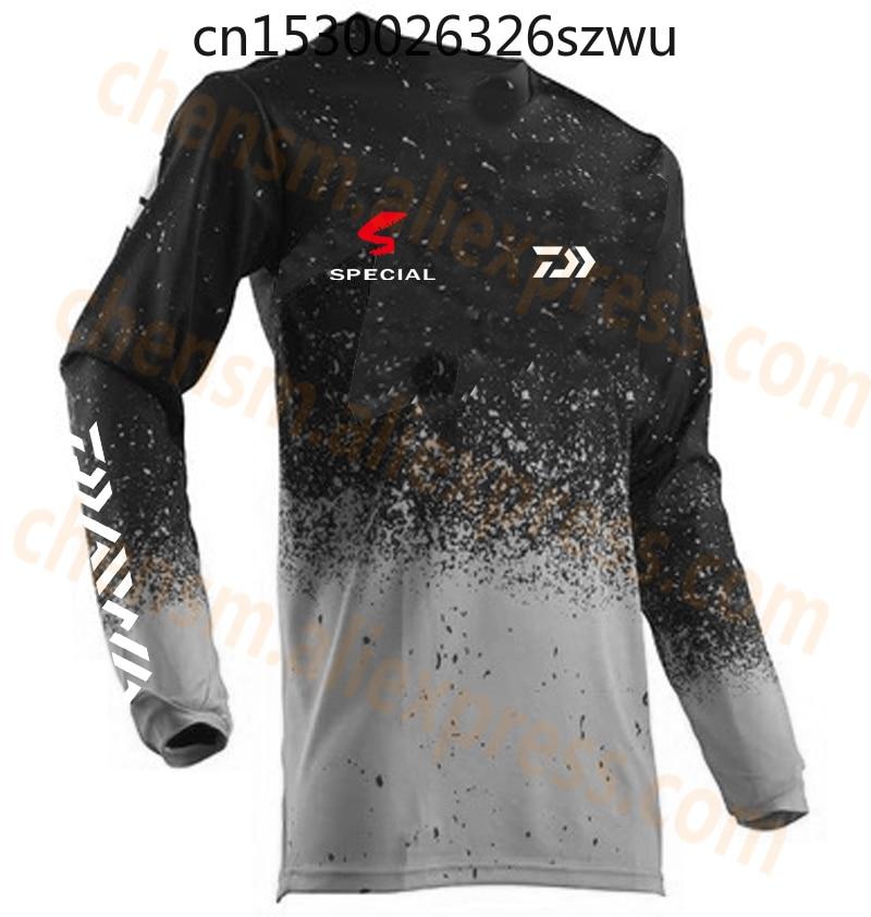 imagem do esporte para os homens s o respiráveis de qualidade superior sho tl em tecido respirável branco preto para ex Camisa de pesca plus size para homens, camisa respirável de secagem rápida e anti-uv para outono XS-5XL
