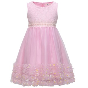 girls christmas dress kids pearl embroidery Dresses Sleeveless for  flower Dress Birthday Party Princess Dress Girls Clothes