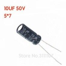 Condensador electrolítico de aluminio, 10UF, 106, 50V, 5x7, 5x7, 106, 50v, 10uf, 50 unids/lote