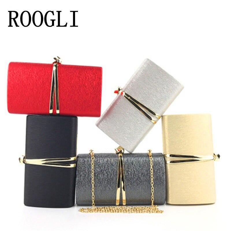 ROOGLI 2020 женская черная вечерняя сумка с металлическим украшением, ручная сумка, свадебные вечерние сумки на одно плечо, Золотая Сумка-клатч, ...