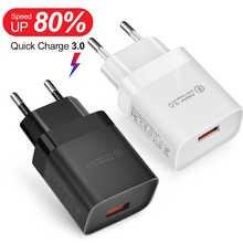 Быстрое зарядное устройство USB 3,0 QC 3,0 18 Вт адаптер для iPhone 12 11 Pro XS Samsung S20 A32 Xiaomi 11 Redmi 9AT Huawei QC3.0 Quick