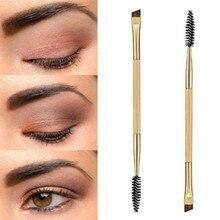 Makeup Double Eyebrow Brush Eyebrow Comb Cosmetic Bamboo Handle Brushes Make Up Tools