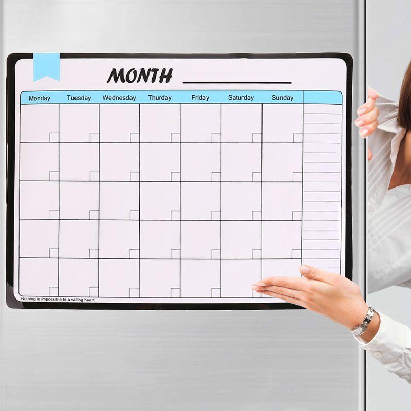 Ежемесячный Планировщик мягкая магнитная доска на холодильник магниты для