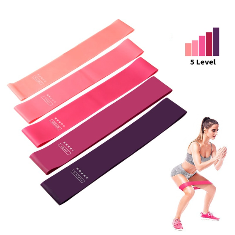 yoga rubber fitness bands training fitness gym exercise gym home strength resistance bands sport crossfit workout equipment Elastic Bands For Fitness Resistance Bands Exercise Gym Strength Training Fitness Gum Pilates Sport Crossfit Workout Equipment