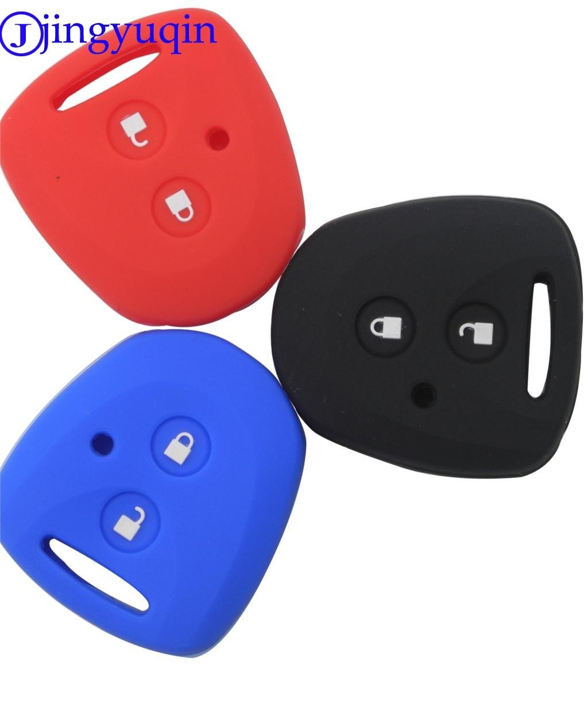 Jingyuqin-funda de silicona para llave de coche, 2 botones, para Toyota Avanza,...