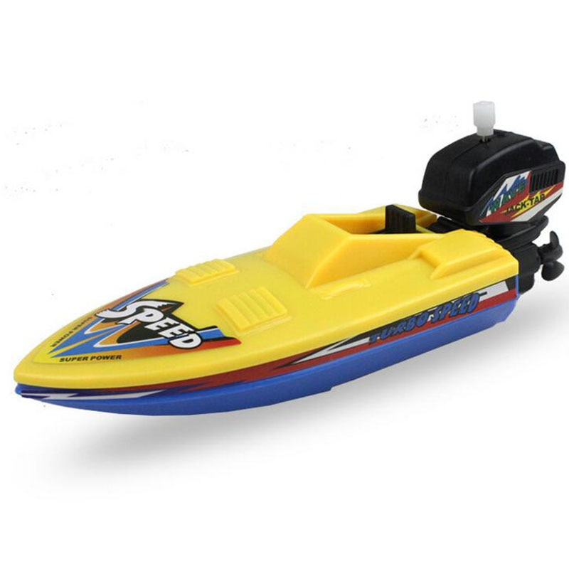 1pc Speed Boat Ship Wind Up Toy Float In Water Kids Toys Classic Clockwork Toys Bathtub Shower Bath