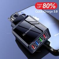 Адаптер питания IRONGEER с 4 USB-портами для быстрой зарядки телефонов iPhone Android, 45 Вт