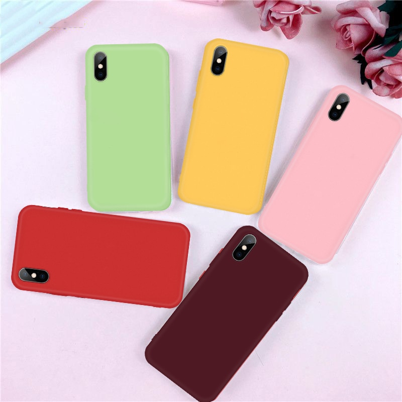 Soft Silicone Case For iPhone 11 Pro Max 2019 Support Wireless Charging for iPhone 7 8 6 S 6S Plus X