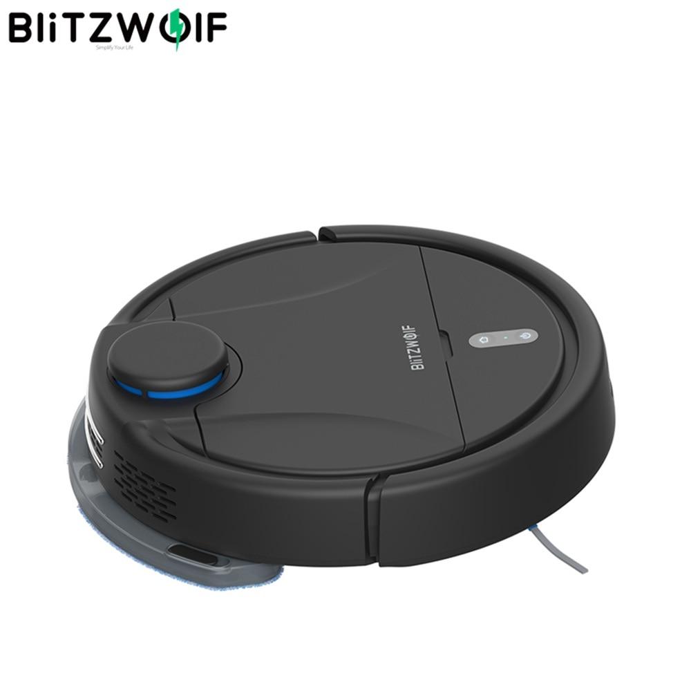 BlitzWolf BW-VC2 الذكية الروبوت مكنسة كهربائية مع 380 مللي الغبار و 100 مللي خزان المياه 2200Pa قوي شفط يعمل اليكسا APP التحكم