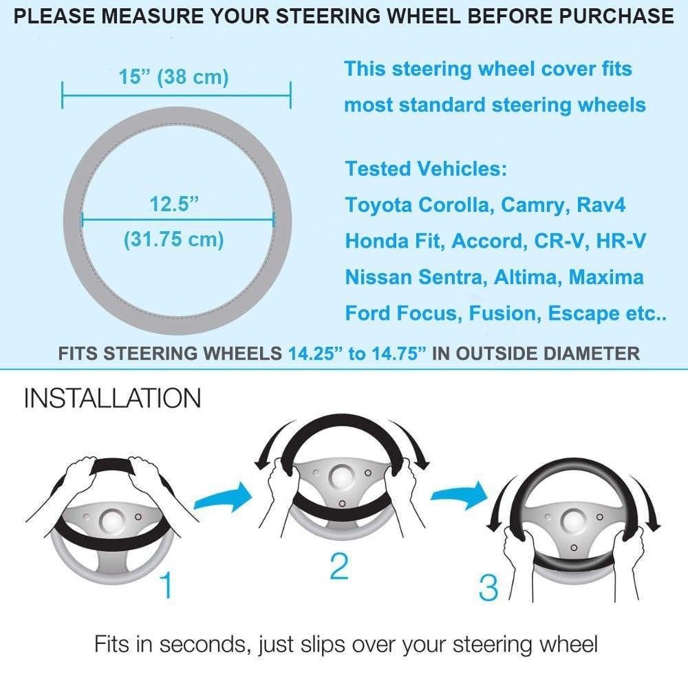 Cystal Steering Wheel Cover for toyota land cruiser 80 100 200 prado 120 150 land-cruiser-prado of 2010 2009 2008 2007