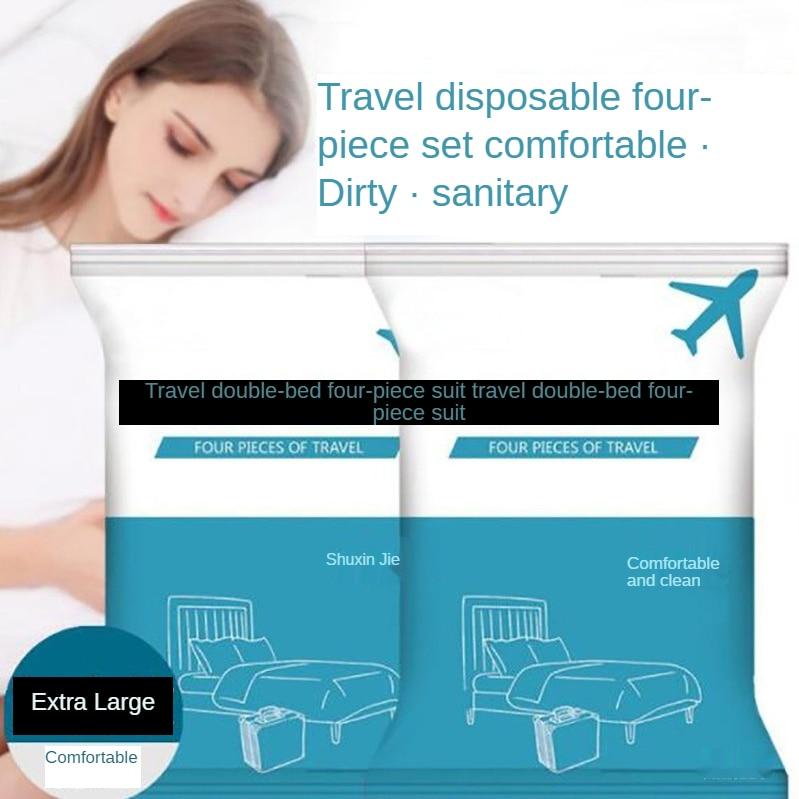 Одноразовые гигиенические простыни пододеяльники, наволочки для подушек, Полотенца s, ванна, Полотенца s, двуспальные комплекты путешествия... недорого