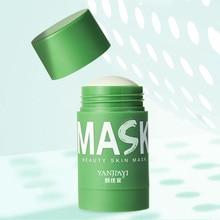 Green Tea Cleansing Clay Stick Mask Acne Cleansing Beauty Skin Green Tea Moisturizing Hydrating Whit