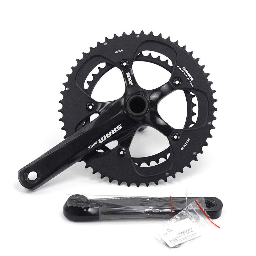 Sram Apex  2x10 speed crankset gxp 170/172.5 53 39t road bike bicycle  130bcd chainring disc
