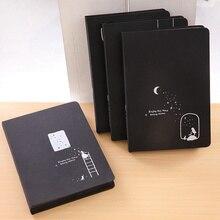 Kreative EINE Touch Von Starry Sky Schwarz Papier Inneren Seite Notebook 96 Blätter 32k 13*19cm Album starry Sky Stil Notebook