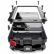 Heavy Duty Защита Doom Броня Металлический Алюминиевый Чехол для мобильного телефона для iPhone 11 Pro Max XR XS MAX 6, 6S, 7, 8 plus X противоударный чехол