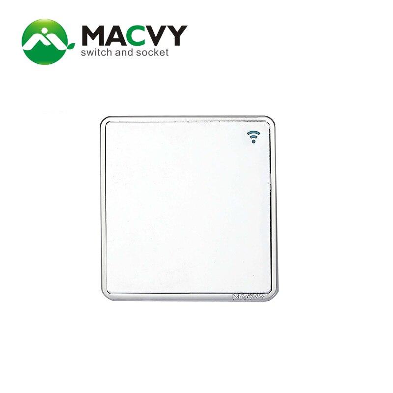 MACVY 16A 1 entradas 2 vías interruptor de pared de alta calidad, nuevo interruptor de toma de hotel Villa UK