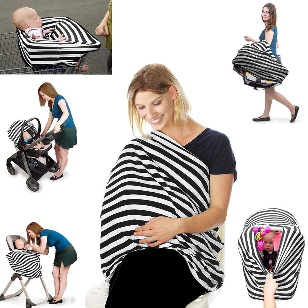 Cubierta de privacidad para lactancia materna, bufanda, asientos de Coche infantil, cochecito, bufanda de lactancia, fundas de lactancia, multiuso para mamá