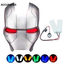 DIY LED Light Eyes Kits for Man Helmet Halloween Eye Light Mask Cosplay Prop Accessories CR2032 Batt