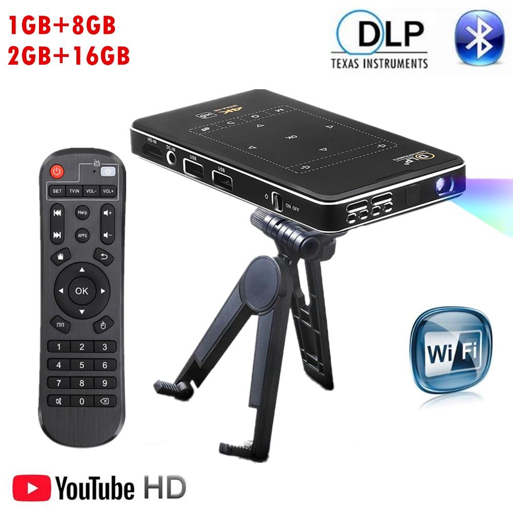 IMK95 de Mi Proyector 4K HD DLPX2 Android7.1 2,4G WiFi BT4.1 Pico...
