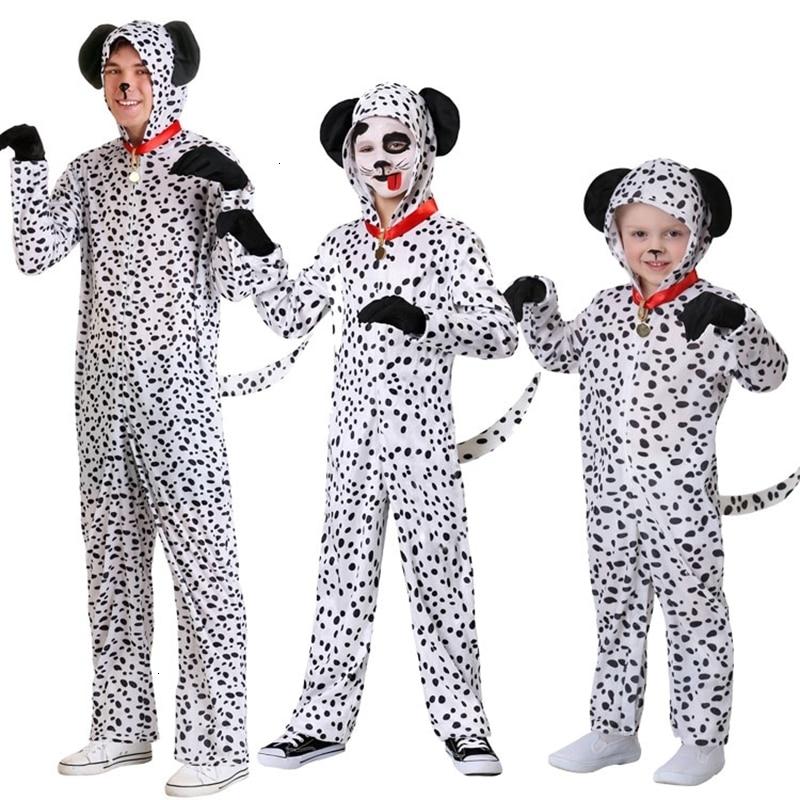 Halloween children children onesie dog-spotted Dalmatian Cosplay black nice animal black dress kigurumi children pajama overalls