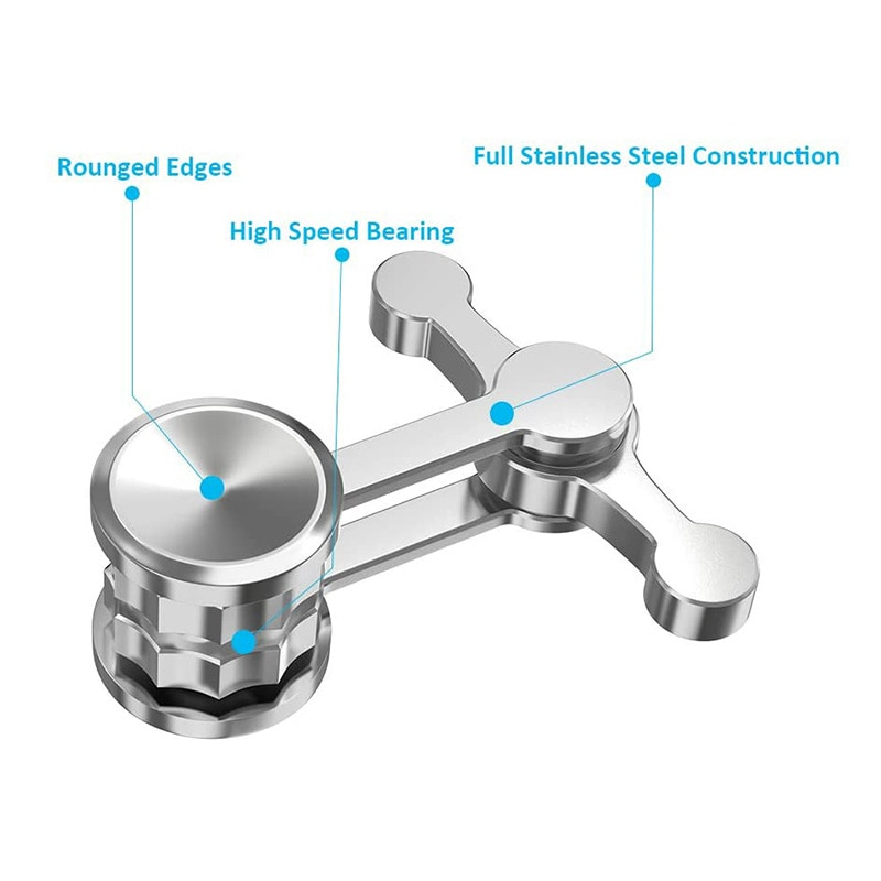 Updated Anti-Anxiety Fidget Spinner  Hand Toys Portable Decompresses Relax  Gift for Children Adult Stress Relief enlarge