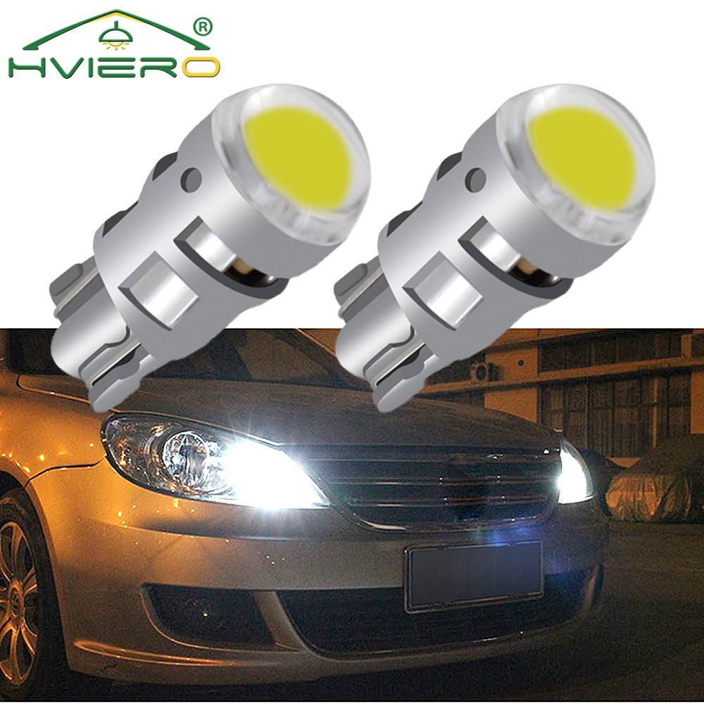 2 шт., Автомобильные светодиодные сигнальные лампы T10 W5W