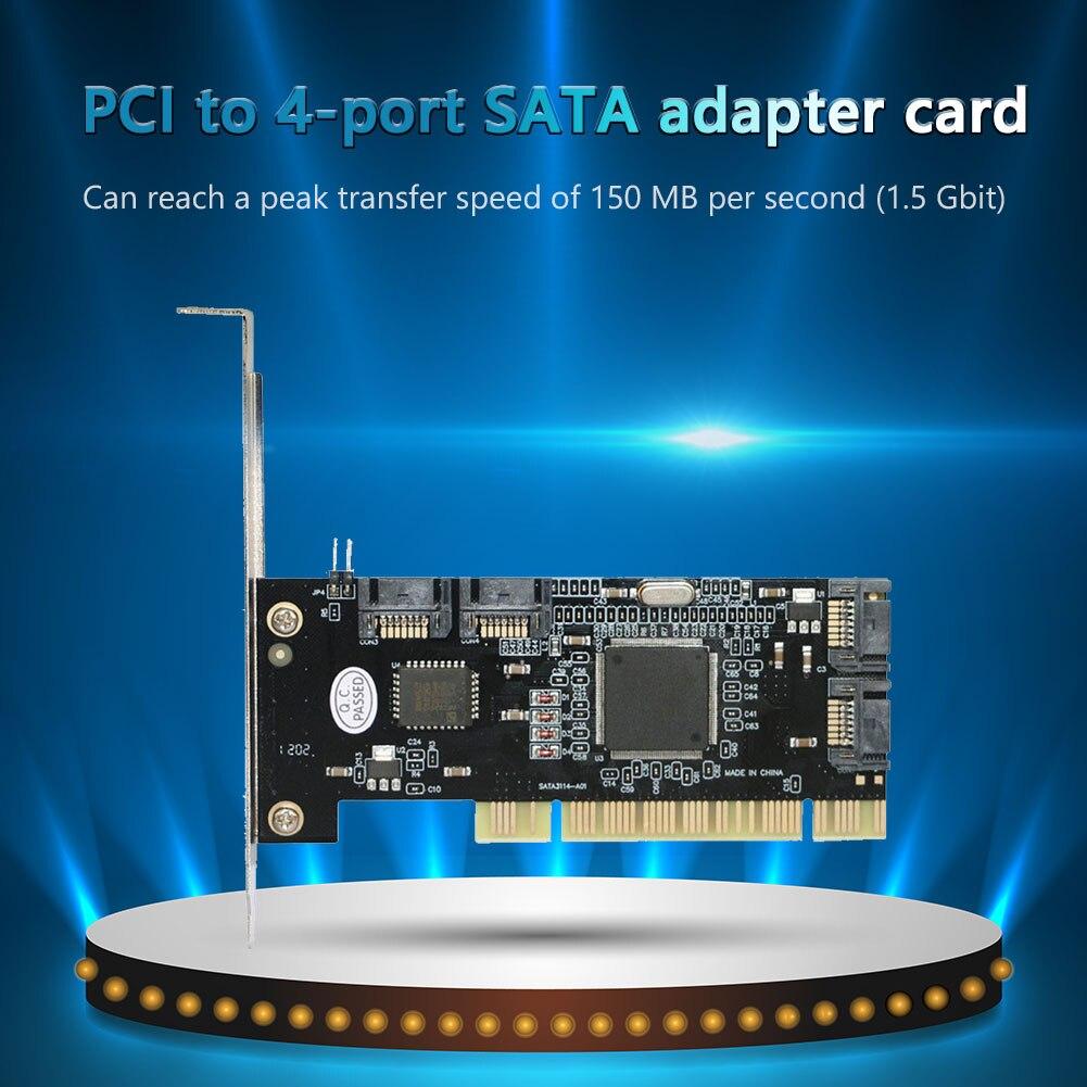 جديد PCI إلى 4 ميناء SATA التوسع الناهض بطاقة 1.5 جيجابايت/ثانية محركات الأقراص الصلبة الداخلية RAID إلى PCI محول ل Riser بطاقة عامل منجم