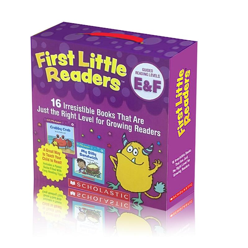 16 libros/set First Little Readers E & F aprende a leer para los padres juguetes educativos aula libros de historia inglesa para niños con CD