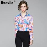 runway designer plus size blouses 2021 spring summer womens long sleeve vintage chiffon flower crown print shirt fashion tops