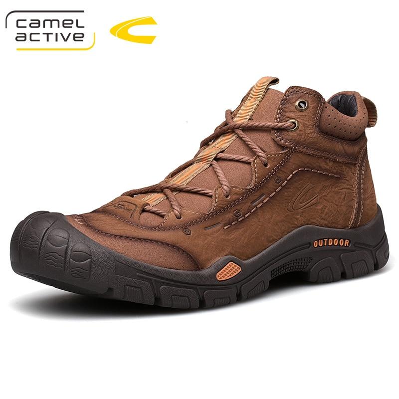 Camel Active-أحذية رياضية شتوية للرجال ، أحذية غير رسمية من الجلد الطبيعي ، أحذية عصرية من جلد البقر الناعم