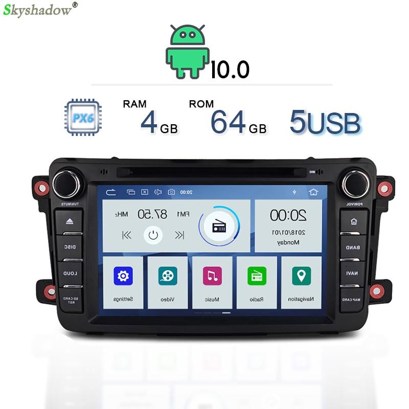 PX6 DSP IPS Android 10 4GB + 64GB RDS Radio mapa GPS Bluetooth 5,0 wifi coche reproductor de DVD multimedia para Mazda CX9 2009, 2010 -2015