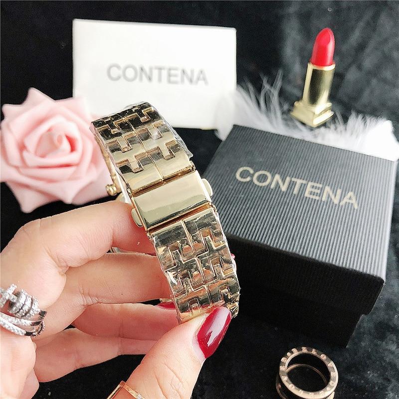 YUNAO Boutique Quartz Watch Shining Rhinestone Ladies Watch Simple Big Dial Electronic Watch Ladies Net Red Same Style Watch enlarge