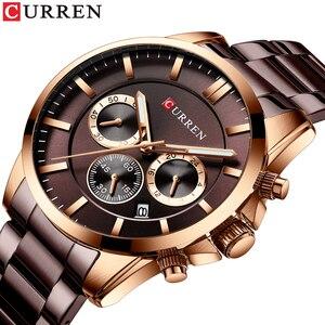 New CURREN Top Brand Sport Watch Men Fashion Casual Men Quartz Wristwatch Business Gentlemen Stainless Steel Military Clock Male