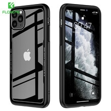 FLOVEME Tempered Glass Case For iPhone 11 X XR Luxury Transparent Case For iPhone 7 8 6s plus Cover