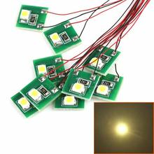 DD00WM 10 pièces Pré-Câblé Blanc CHAUD SMD 3528 lampe à LED Ensemble de Lumière 12 V ~ 18 V NOUVEAU