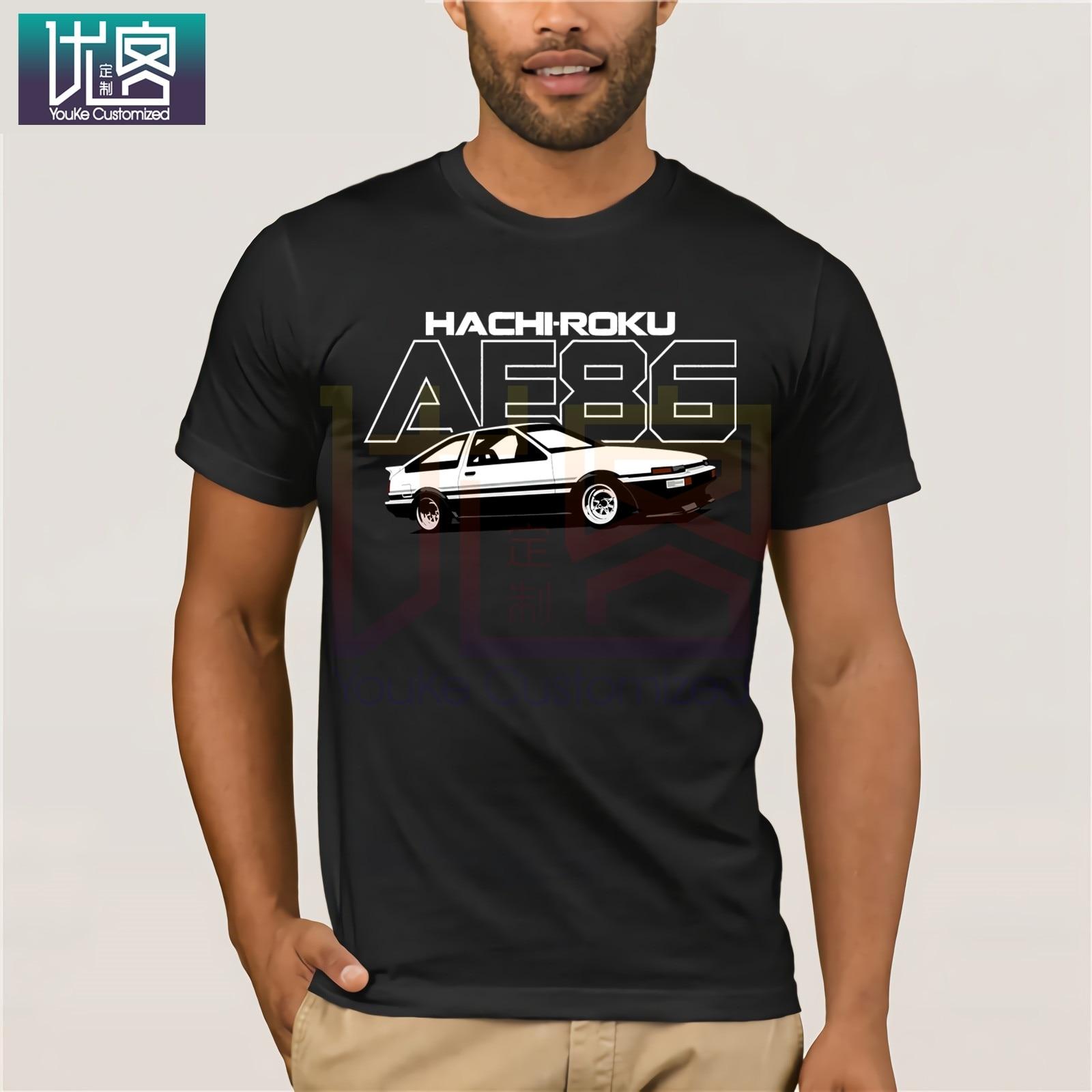 Camiseta Cool Toyota Ae86 Car, camiseta con inicial de Anime de Fujiwara Takumi Hachiroku, camiseta Harajuku, divertidas camisetas de algodón