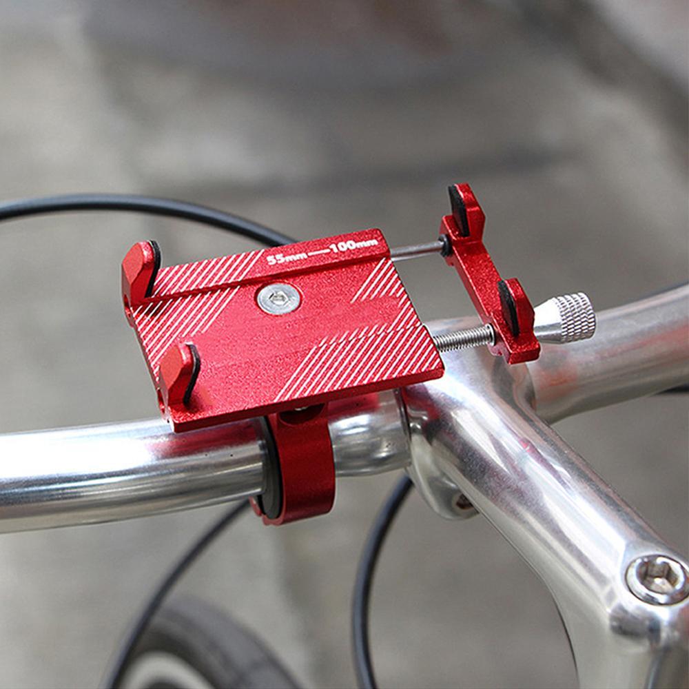 Soporte de teléfono de bicicleta de aleación de aluminio, antideslizante, antivibración, soportes de navegación GPS para teléfono móvil, soporte de teléfono para bicicleta y motocicleta MTB