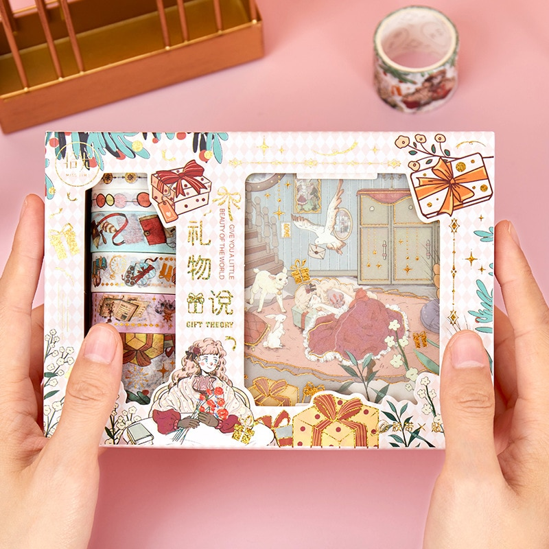 Kawaii Cartoon Fairy Tale Dreams Theme Paper Stickers+Washi Tapes Decoration Pack Free Shipping