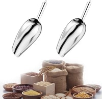2 pack 3 ounce ice scoop stainless steel pet food scoop ice scooper for freezer multifunctional small scoops utility scoops