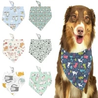 new pet print triangle towel dog pet supplies cat dog collar decoration triangle towel saliva towel