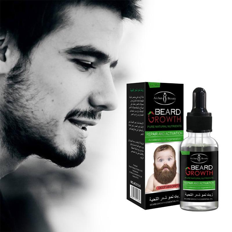 30ml 100% Natural Men Beard Balm Organic Beard Oil Wax Balm Hair Loss Products Leave-In Conditioner for Groomed Beard Growth Oil недорого