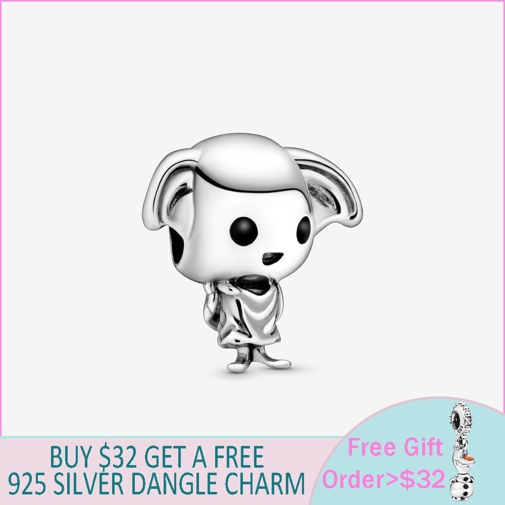 2020 nueva llegada 925 cuentas de plata Dobby House Elf Charm Ajuste Original Pandora pulsera DIY joyería para mujer