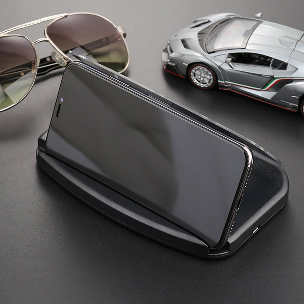 1 Uds móviles teléfono Beugel Hud de Navigatie proyector Head-up Display Qi Draadloze Oplader soporte para Auto 1000 (ma) Micro USB