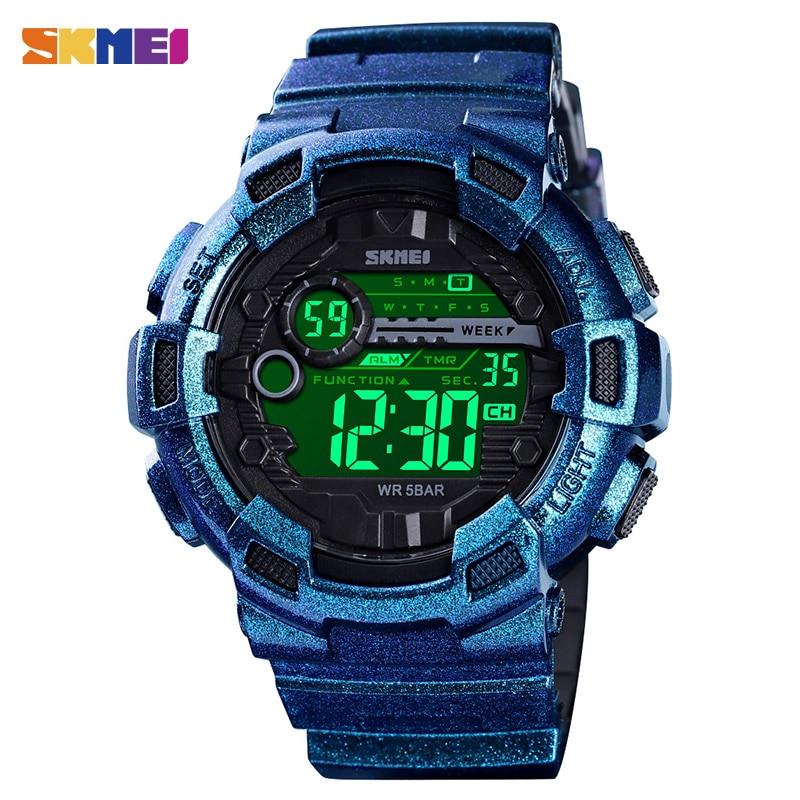 5pcs SKMEI Men Watch 2021 Sport Digital Watch Waterproof LED Display Wirstwatch Multifunction Electronic Watch 1243