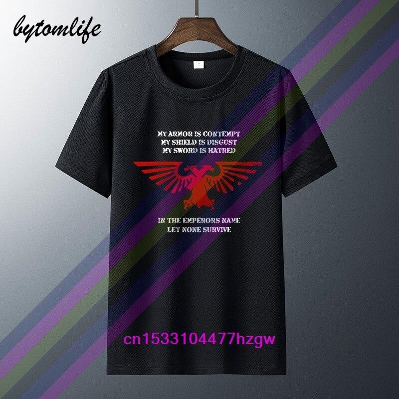 Nuevo rojo LOGO Warhammer 40k águila Imperial Negro hombres camiseta 2020 verano moda pantalón corto Casual manga Top cuello redondo camisetas de algodón