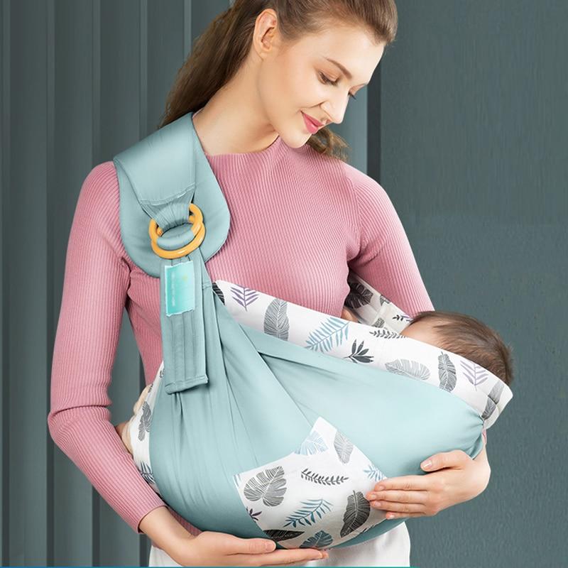 Portador de envoltura para bebé, anillo de eslinga para niños pequeños, soporte para envoltorio para recién nacidos, bolsas de bebé transpirables naturales, funda de lactancia cómoda